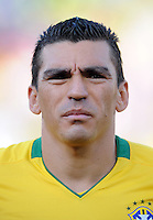 Lucio of Brazil. Brazil defeated USA 3-0 during the FIFA Confederations Cup at Loftus Versfeld Stadium in Tshwane/Pretoria, South Africa on June 18, 2009.
