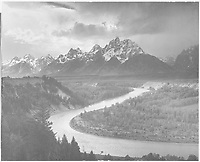 """""""The Tetons - Snake River,"""" Grand Teton National Park, Wyoming;<br /> From the series Ansel Adams Photographs of National Parks and Monuments, compiled 1941 - 1942, documenting the period ca. 1933 - 1942."""