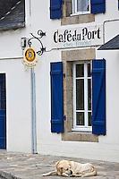 Europe/France/Bretagne/29/Finistère/Brignogan: Façade du Café du Port
