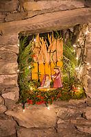 Italie, Val d'Aoste, Bard, Marché de Noël , Décoration de Noël// Italy, Aosta Valley, Bard: Christmas market,  Christmas decoration