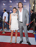 """Elsa Pataky and Chris Hemsworth at The Marvel Studios Premiere of """" Captain America : The First Avenger """"  held at The El Capitan Theatre in Hollywood, California on July 19,2011                                                                               © 2011 DVS/Hollywood Press Agency"""