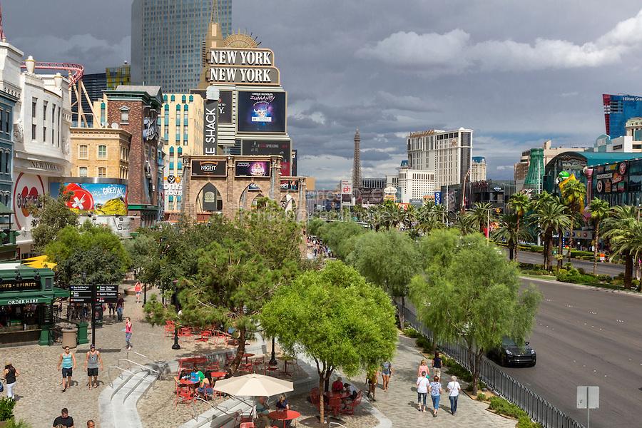 Las Vegas, Nevada.  Las Vegas Boulevard Street Scene.  Shops at New York New York Hotel and Casino.
