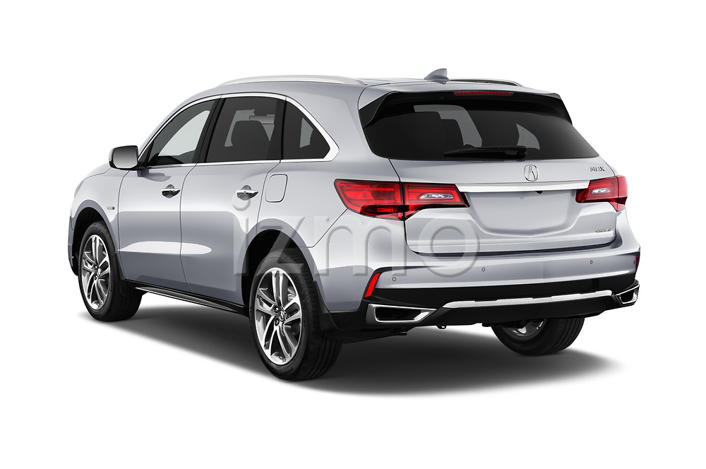 Car pictures of rear three quarter view of 2017 Acura MDX Sport Hybrid SH-AWD Advance Package 5 Door SUV angular rear