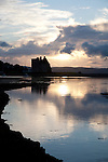 Lochranza Castle at Sunset on the Isle of Arran, Scotland