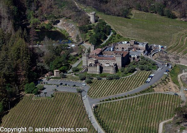 aerial photograph Castello di Amerosa winery, St. Helena, Napa County, California