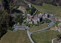 aerial photograph Castello di Amerosa winery, St. Helena, Napa County, California