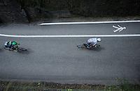 white jersey Adam Yates (GBR/Orica-BikeExchange) in the village of Flumet<br /> <br /> Stage 20: Megève › Morzine (146.5km)<br /> 103rd Tour de France 2016