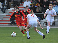 UEFA Women's Under 17 Championship - Second Qualifying round - group 1 : Belgium - England : .Johanna Koenig aan de bal.foto DAVID CATRY / Vrouwenteam.be