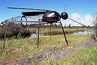 Yellowknife, NT, Northwest Territories, Canada - Giant Mosquito Sculpture, Tourist Attraction, Insect Art