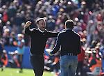 FC Barcelona's  coach Luis Enrique celebrating the second goal during La Liga match. February 7, 2016. (ALTERPHOTOS/Javier Comos)