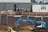Mannschaft des SV Darmstadt 98 in der Baustelle <br /> <br /> - 19.12.2020: Fussball 2. Bundesliga, Saison 20/21, Spieltag 13, SV Darmstadt 98 - Wuerzburger Kickers, Stadion am Boellenfalltor, emonline, emspor, <br /> <br /> Foto: Marc Schueler/Sportpics.de<br /> Nur für journalistische Zwecke. Only for editorial use. (DFL/DFB REGULATIONS PROHIBIT ANY USE OF PHOTOGRAPHS as IMAGE SEQUENCES and/or QUASI-VIDEO)