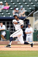 NW Arkansas Naturals second baseman Justin Trapp (2) at bat during a game against the Corpus Christi Hooks on May 26, 2014 at Arvest Ballpark in Springdale, Arkansas.  NW Arkansas defeated Corpus Christi 5-3.  (Mike Janes/Four Seam Images)