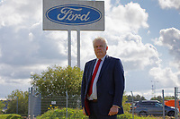 Pictured: Former First Minister for Wales Carwyn Jones outside the Ford engine plant in Bridgend, Wales, UK. Thursday 06 June 2019<br /> Re: An announcement on the proposed closure of Ford's Bridgend plant will be made today (Thursday).<br /> Ford Europe and bosses from the United States will meet union leaders at its Essex headquarters.<br /> The plant employs 1,700 workers from across south Wales.