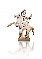 Roman marble sculpture of a warrior on horseback, a 2nd century AD copy from an original 2nd century BC Hellanistic Greek original, inv 6405 Farnese Collection, Naples  Museum of Archaeology, Italy