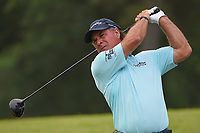 April 29th 2021, The Woodlands, Texas USA;  Scott McCarron watches his tee shot on 1 during the preview of the 2021 Insperity Invitational at The Woodlands Country Club on April 29, 2021 in The Woodlands, Texas.