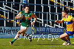 Paudie Clifford, Kerry, in action against Cian O Dea, Clare, during the Munster Football Championship game between Kerry and Clare at Fitzgerald Stadium, Killarney on Saturday.