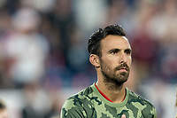 FOXBOROUGH, MA - AUGUST 24: Jonathan Bornstein #3 of Chicago Fire during a game between Chicago Fire and New England Revolution at Gillette Stadium on August 24, 2019 in Foxborough, Massachusetts.