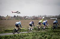 TV helicopter flying parallel to the riders<br /> <br /> 72nd Kuurne-Brussel-Kuurne 2020 (1.Pro)<br /> Kuurne to Kuurne (BEL): 201km<br /> <br /> ©kramon