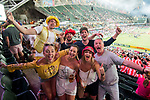 Rugby fans during the HSBC Hong Kong Rugby Sevens 2018 on 08 April 2018, in Hong Kong, Hong Kong. Photo by Chung Yan Man / Power Sport Images