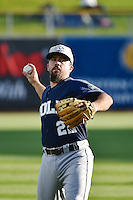 Zack Cox (22) of the New Orleans Zephyrs before the game against the Salt Lake Bees in Pacific Coast League action at Smith's Ballpark on August 27, 2014 in Salt Lake City, Utah.  (Stephen Smith/Four Seam Images)