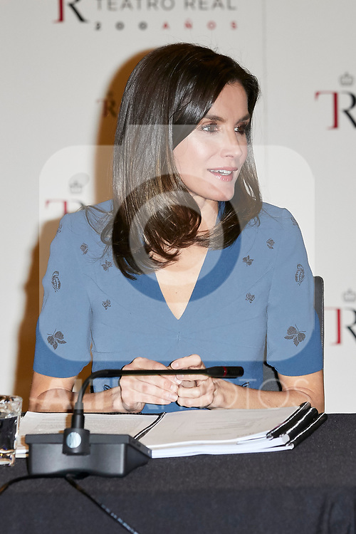 Queen Letizia of Spain attends to Meeting of the Teatro Real Foundation board of Directors at Teatro Real in Madrid, Spain. February 07, 2019. (ALTERPHOTOS/A. Perez Meca)