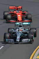 March 16, 2019: Lewis Hamilton (GBR) #44 from the Mercedes-AMG Petronas Motorsport team rounds turn 2 during practice session three at the 2019 Australian Formula One Grand Prix at Albert Park, Melbourne, Australia. Photo Sydney Low