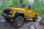 Land Rover Defender 110 HiCab Pick-Up support vehicle the ALRC National 2008 CCTV Trial. The Association of Land Rover Clubs (ALRC) National Rallye is the biggest annual motor sport oriented Land Rover event and was hosted 2008 by the Midland Rover Owners Club at Eastnor Castle in Herefordshire, UK, 22 - 27 May 2008. --- No releases available. Automotive trademarks are the property of the trademark holder, authorization may be needed for some uses.