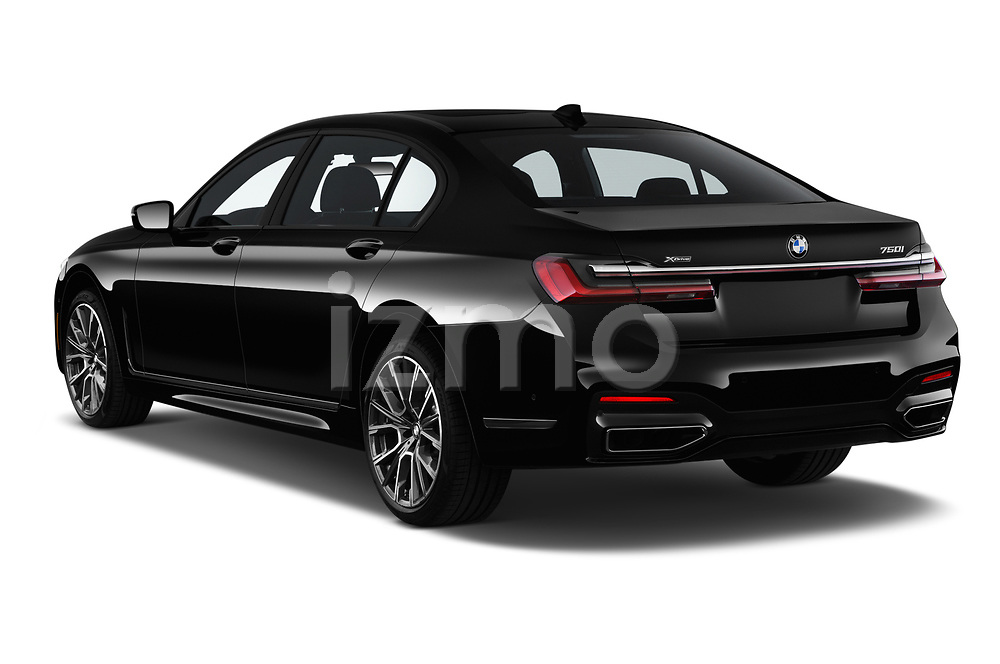 Car pictures of rear three quarter view of a 2020 BMW 7 Series M Sport 4 Door Sedan angular rear
