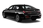 Car pictures of rear three quarter view of a 2020 BMW 7 Series M Sport 4 Door Sedan angular rear