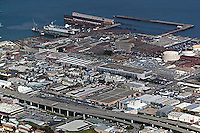 aerial photograph Pier 70, Third Street, San Francisco, California
