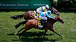 LOUISVILLE, KY - MAY 06: Roca Rojo #6, ridden by Florent Geroux, wins the Churchill Distaff Turf Mile Stakes  ahead of Believe in Bertie #4, ridden by Shaun Bridgmohan, on Kentucky Derby Day at Churchill Downs on May 6, 2017 in Louisville, Kentucky. (Photo by Jon Durr/Eclipse Sportswire/Getty Images)