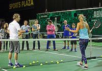 Februari 09, 2015, Netherlands, Rotterdam, Ahoy, ABN AMRO World Tennis Tournament, Service clinic With Brenda Schultz-McCarthy<br /> Photo: Tennisimages/Henk Koster