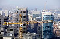 Construction au Centre-ville de Montreal<br /> <br /> 2017<br /> <br /> <br /> PHOTO : Agence Quebec Presse