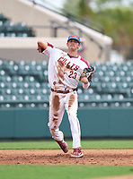 North Marion Colts third baseman Deric Fabian (23) during the 42nd Annual FACA All-Star Baseball Classic on June 6, 2021 at Joker Marchant Stadium in Lakeland, Florida.  (Mike Janes/Four Seam Images)