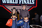 Madison Clark, Daunte Ceresola, during the Team Roping Back Number Presentation at the Junior World Finals. Photo by Andy Watson. Written permission must be obtained to use this photo in any manner.