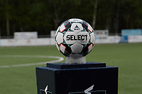 Game ball pictured during a female soccer game between  Racing Genk Ladies and SV Zulte-Waregem on the 7 th matchday of play off 2 in the 2020 - 2021 season of Belgian Scooore Womens Super League , friday 14 th of May 2021  in Genk , Belgium . PHOTO SPORTPIX.BE   SPP   JILL DELSAUX