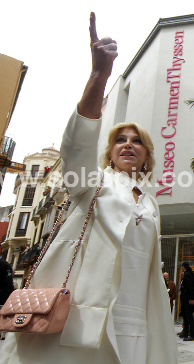 """**ALL ROUND PICTURES FROM SOLARPIX.COM**                                             **WORLDWIDE SYNDICATION RIGHTS EXCEPT SPAIN & SOUTH AMERICA - NO SYNDICATION IN SPAIN OR SOUTH AMERICA**                                                                                  Caption: .Spanish baroness Carmen Thyssen-Bornemisza widow of Baron Thyssen-Bornemisza, said at  the opening  presentation of the Malaga museum that the works on display in the new space, 230 were selected """"for their quality and closeness to Andalusia, although there are paintings that are not Andalusian such as those by Sorolla, Regoyos and Beruete."""".The Baroness has loaned these works for free for a period of fifteen years but was confident that """"in no time"""" she will reach an agreement to extend the agreement..Among the pieces that the public can see starting tomorrow, Carmen Cervera said there is an anonymous carving of Christ dated between 1230 and 1250 and a painting in which Guillermo Gómez Gil captured the Reding Fountain. """"I acquired the painting many years ago at an auction in London and it was one of my first Spanish works, """" she said.   .                                                                            .This pic: Thyssen-Bornemisza and Malaga mayor Francisco de la Torre outside the new Carmen Thyssen Museum in Malaga                                                                                            JOB REF: 13016       MPA       DATE: 23.03.2011                                                           **MUST CREDIT SOLARPIX.COM OR DOUBLE FEE WILL BE CHARGED**                                                                      **MUST AGREE FEE BEFORE ONLINE USAGE**                               **CALL US ON: +34 952 811 768 or LOW RATE FROM UK 0844 617 7637**"""