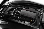 Car stock 2018 Chevrolet Corvette Stingray Coupe 2LT 3 Door Targa engine high angle detail view