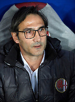 Calcio, quarti di finale di Coppa Italia: Alessandria vs Milan. Torino, stadio Olimpico, 26 gennaio 2016.<br /> Alessandria's coach Angelo Adamo Gregucci waits for the start of the Italian Cup semifinal first leg football match between Alessandria and AC Milan at Turin's Olympic stadium, 26 January 2016.<br /> UPDATE IMAGES PRESS/Isabella Bonotto