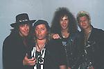 Ritchie Sambora, Sam Kinison, David Bryan & Billy Idol in 1988.