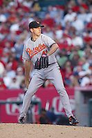 Steve Trachsel of the Baltimore Orioles during a game from the 2007 season at Angel Stadium in Anaheim, California. (Larry Goren/Four Seam Images)