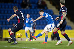 St Johnstone v Ross County…..29.12.19   McDiarmid Park   SPFL<br />Matty Kennedy's shot is tipped onto the crossbar by Nathan Baxter<br />Picture by Graeme Hart.<br />Copyright Perthshire Picture Agency<br />Tel: 01738 623350  Mobile: 07990 594431