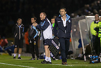Gareth Ainsworth manager of Wycombe Wanderers shows his frustration during the Johnstone's Paint Trophy match between Bristol Rovers and Wycombe Wanderers at the Memorial Stadium, Bristol, England on 6 October 2015. Photo by Andy Rowland.