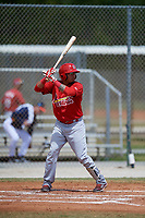 St. Louis Cardinals Rayder Ascanio (7) during a Minor League Spring Training game against the Houston Astros on March 27, 2018 at the Roger Dean Stadium Complex in Jupiter, Florida.  (Mike Janes/Four Seam Images)