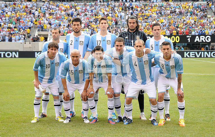 Argentina National Team Starting Eleven. The Argentina National Team defeated Brazil 4-3 at MetLife Stadium, Saturday July 9 , 2012.