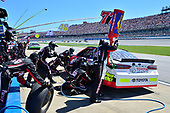 Monster Energy NASCAR Cup Series<br /> GEICO 500<br /> Talladega Superspeedway, Talladega, AL USA<br /> Sunday 7 May 2017<br /> Erik Jones, Furniture Row Racing, ToyotaCare Toyota Camry, makes a pit stop<br /> World Copyright: John K Harrelson<br /> LAT Images<br /> ref: Digital Image 17TAL1jh_04957