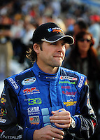 Feb 21, 2009; Fontana, CA, USA; NASCAR Nationwide Series driver Stanton Barrett prior to the Stater Brothers 300 at Auto Club Speedway. Mandatory Credit: Mark J. Rebilas-