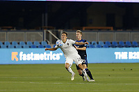 SAN JOSE, CA - SEPTEMBER 5: Cole Bassett #26 of the Colorado Rapids is marked by Jackson Yueill #14 of the San Jose Earthquakes during a game between Colorado Rapids and San Jose Earthquakes at Earthquakes Stadium on September 5, 2020 in San Jose, California.