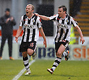 ST MIRREN'S AARON MOOY CELEBRATES AFTER HE SCORES ST MIRREN'S FIRST.