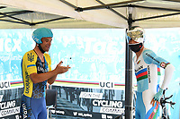 Picture by Simon Wilkinson/SWpix.com - 25/09/2020 - Cycling - UCI 2020 Road World Championships IMOLA - EMILIA-ROMAGNA ITALY - ITT Individual Time Trial Elite Men - Mykhaylo Kononmenko of Ukraine and Elchin Asadov of Azerbaijan. - TACX